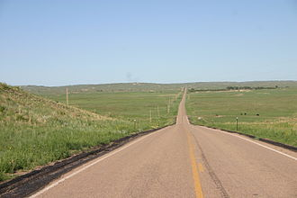 Nebraska Highway 92 - N-92 in the Sandhills, between Arthur and Tryon