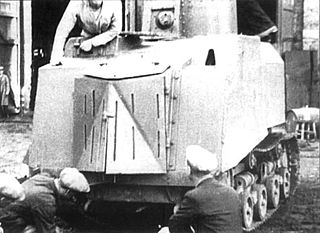 NI tank improvised Soviet armored fighting vehicle, based on an STZ-5 agricultural tractor
