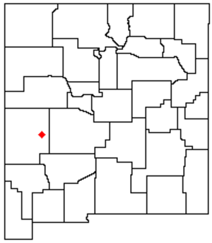 Plains of San Agustin - Location of the San Agustin Plains within New Mexico