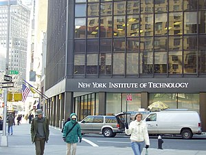 New York Institute of Technology School of Management - A building of New York Institute of Technology on its Manhattan campus