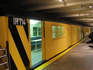 R22 (New York City Subway car) - 7422 (renumbered to 1R714) on display at the New York Transit Museum in October 2009