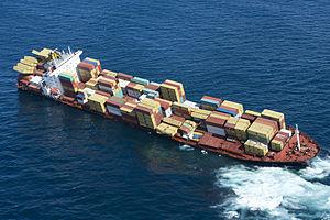 MV Rena - Image: NZ Defence Force assistance to OP Rena