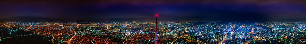 N Seoul Tower Panorama Night (cropped).jpg