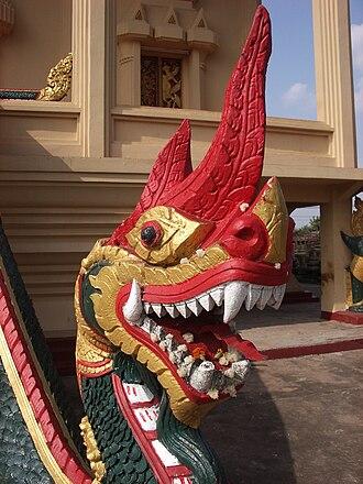 Pha That Luang - Image: Naga pha that luang 1