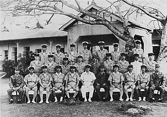 Chūichi Nagumo - Last picture of Nagumo (center), Saipan, 1944.