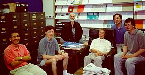 Yoichiro Nambu -  Nambu and associates in 1996