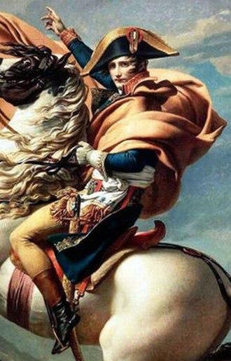 Bonaparte Crossing the Alps - Image: Napoleon David