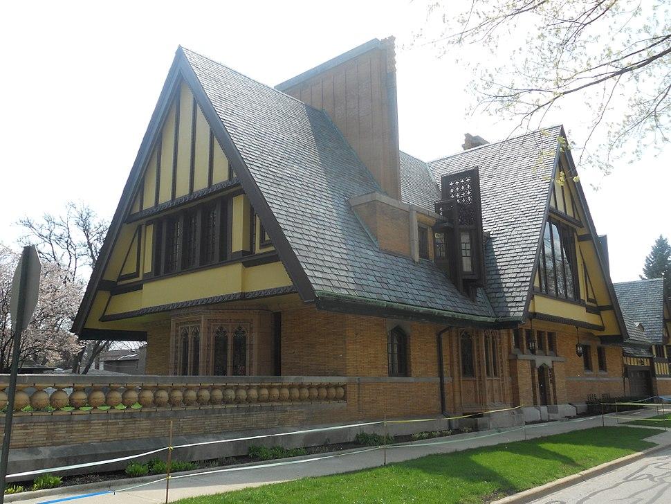 Nathan G. Moore house (1895), Oak Park, IL, rear