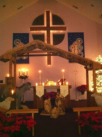 Christmas Eve Nativity at Resurrection Lutheran Church, Fredericksburg, Virginia NativityofJesus.jpg