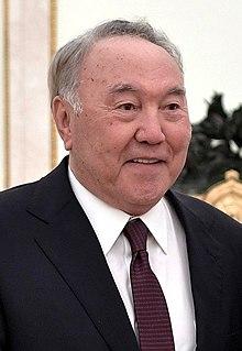 Nursultan Nazarbayev Kazakh politician, 1st and former President of Kazakhstan