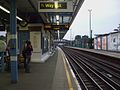 Neasden station look eastbound look west.JPG