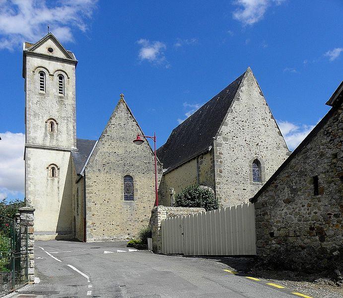 Église Saint-Vigor de Neau (53).