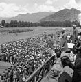 Nehru at Joint parade of National Militia, Peace Brigade, Police and the Women Defence Corps on The Polograound in Srinagar in May 1948 (04).jpg