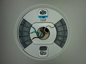 Nest learning thermostat - Image: Nest 3rd gen baseplate