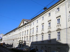 Diplomatic Academy of Vienna - Front side of the school