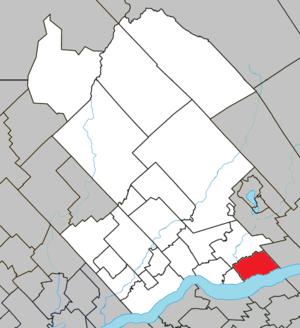 Neuville, Quebec - Image: Neuville Quebec location diagram