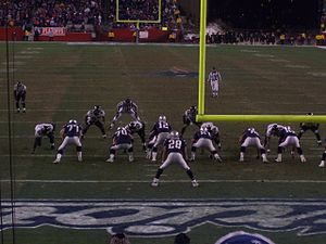 English: The New England Patriots' offense on ...