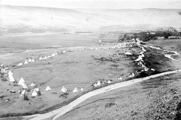Nez.Perce.Camp.Lapwai.1899