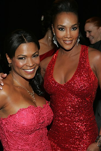 Nia Long and Vivica A. Fox backstage at the 20...