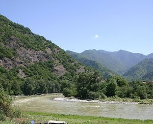Kura (Caspian Sea) - The headwaters of the Kura (here Mtkvari) near Akhaltsikhe, Georgia