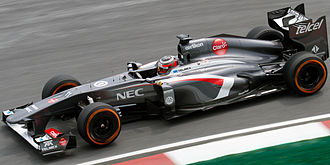 Sauber C32 - Image: Nico Hulkenberg 2013 Malaysia FP1