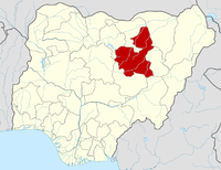 Location of Bauchi State in Nigeria