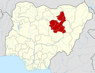 Bauchi State - Image: Nigeria Bauchi State map