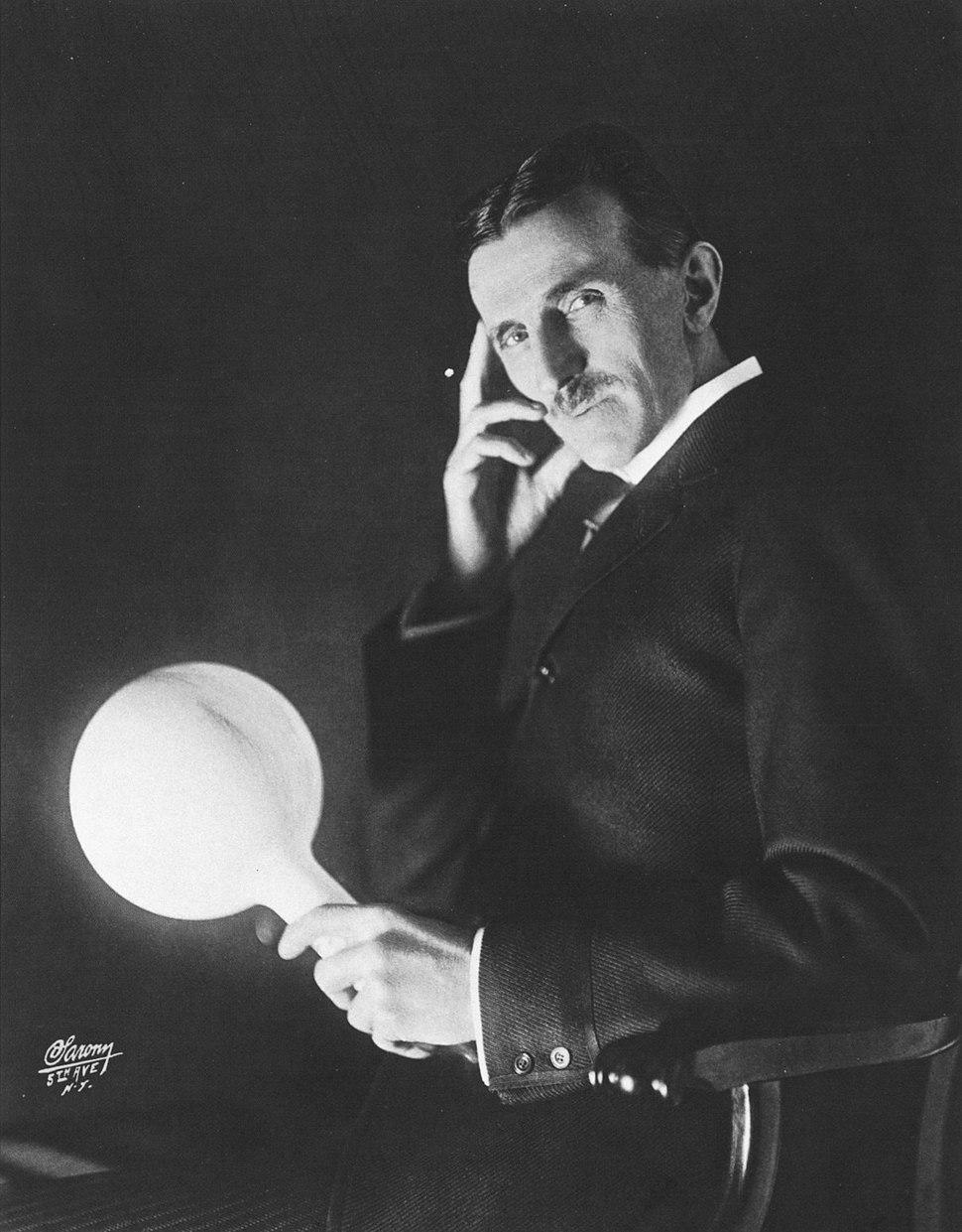 Nikola Tesla by Sarony c1898