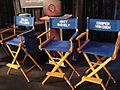 Noobz Movie Shoot - Zelda Williams, Matt Shively, Casper Van Dien chairs (6317022020).jpg