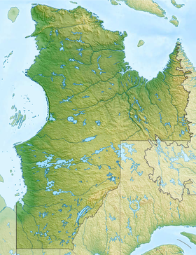 Voir sur la carte administrative de la zone Nord-du-Québec