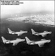 North American F-86D Sabre Knights Hamilton