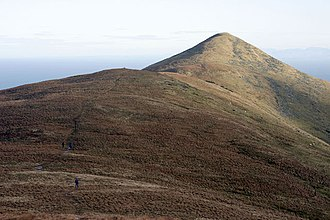 Hills and mountains of the Isle of Man - Image: North Barrule, IOM. geograph.org.uk 36