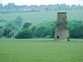 South Luffenham - The shell of the tower mill