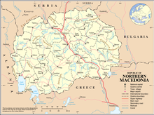 Description de l'image North Macedonia Map.png.