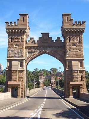 Cammeray - Long Gully Bridge, view from Northbridge