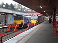 Northern Rail and Grand Central trains at Bradford Interchange (8th November 2014).JPG
