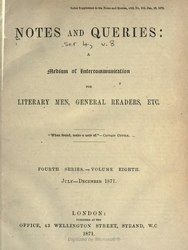 English: Notes and Queries