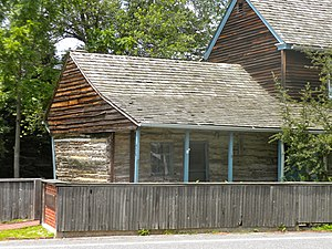New Sweden - The C. A. Nothnagle Log House in Gibbstown, New Jersey. Built in 1638, it is the oldest surviving house in what is today New Jersey.