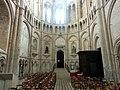 Noyon (60), cathédrale Notre-Dame, croisillon nord, abside, parties basses, vue vers le nord.jpg
