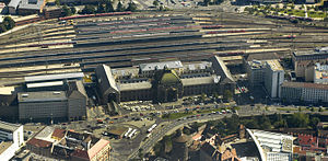 Nuremberg Central Station - Aerial photo 2009