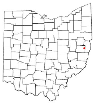 Hopedale, Ohio - Image: OH Map doton Hopedale