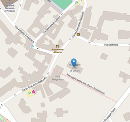 OSM Location of Civic Planetarium of Lecco.png