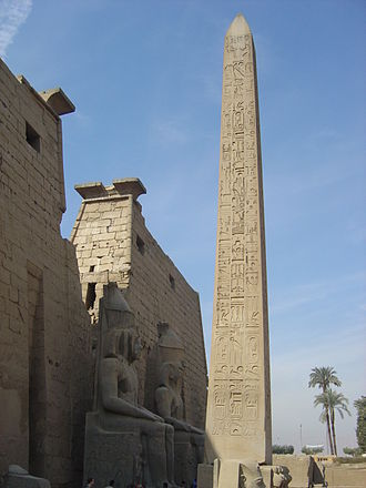 History of Africa - Obelisk at temple of Luxor, Egypt. c. 1200 BC