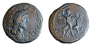 Tiberius Julius Sauromates II - Bronze coin of Sauromates II, c. 172–211 CE