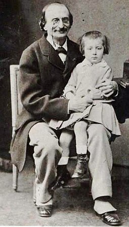 Offenbach with his only son, Auguste, 1865 Offenbach and son Auguste.jpg