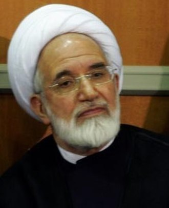 Iranian legislative election, 1996 - Image: Officials met with the Supreme leader of Iran October 11, 2006 Mehdi Karroubi (Cropped)
