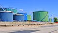 Oil tanks in port of Le Havre (France).jpg