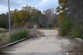 Arkansas Highway 22 - Image: Old Arkansas 22, Barling Segment, Bridge