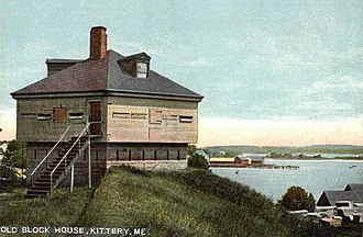 Kittery, Maine - Old Block House at Fort McClary (c. 1908)