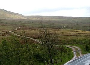 Mallerstang - The Old Highway (Lady Anne's Way), leaving the B6259 at Boggle Green, Mallerstang